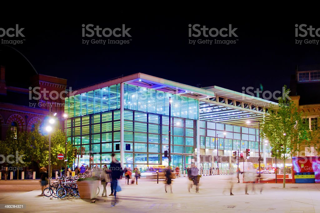 London Railway Station stock photo