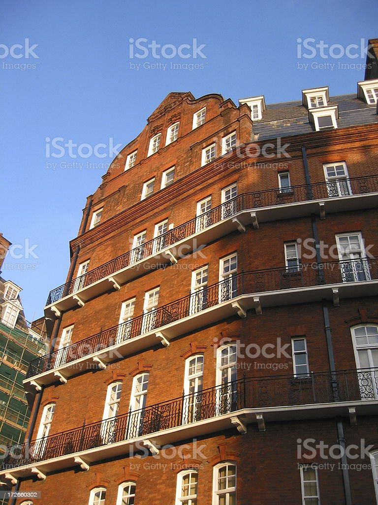 London Red Brick Building royalty-free stock photo
