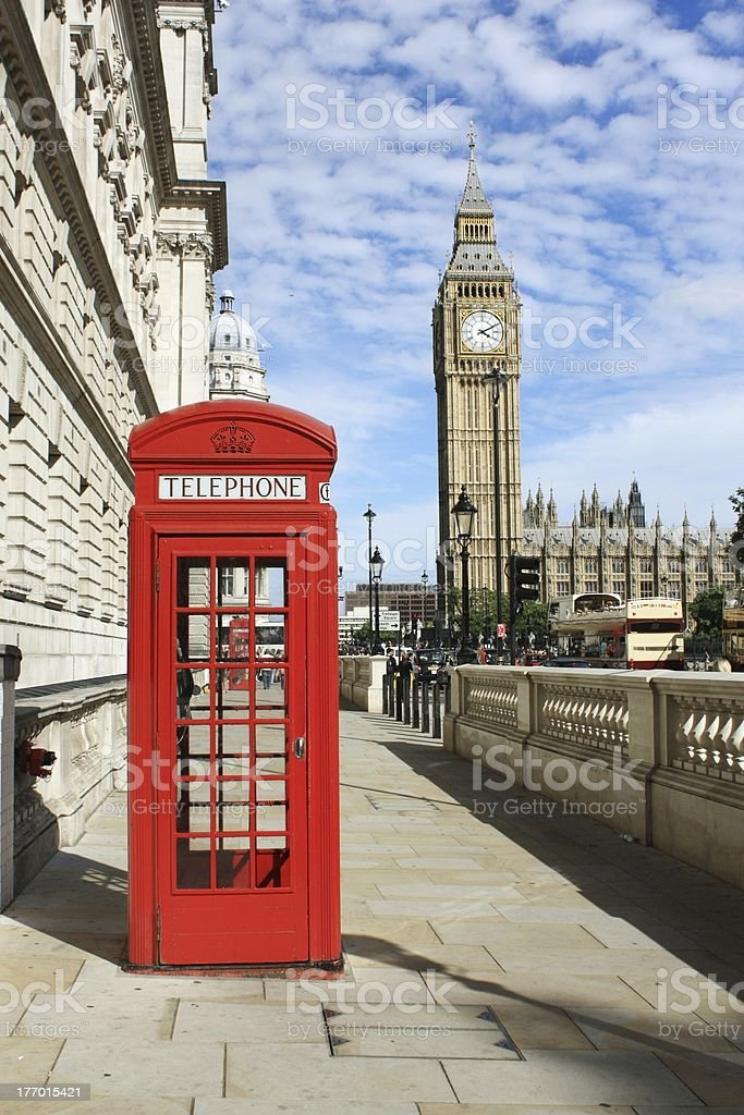London Red Telephone Booth stock photo