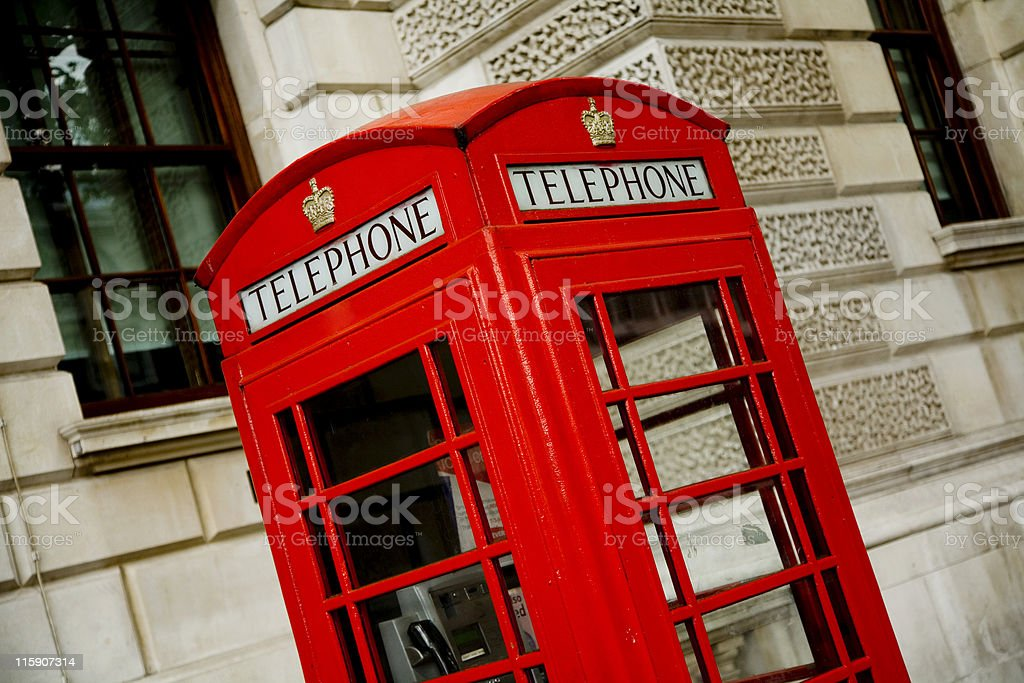 London Red Telephone Box royalty-free stock photo