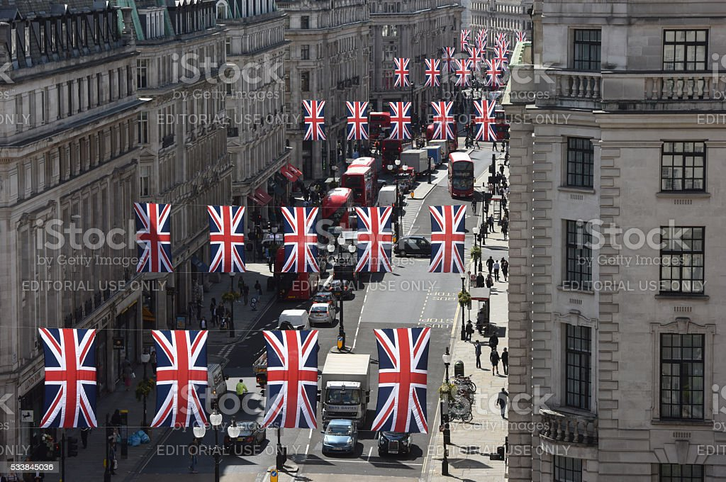 London Regent street stock photo