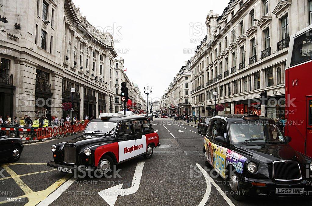London - Regent Street Traffic royalty-free stock photo