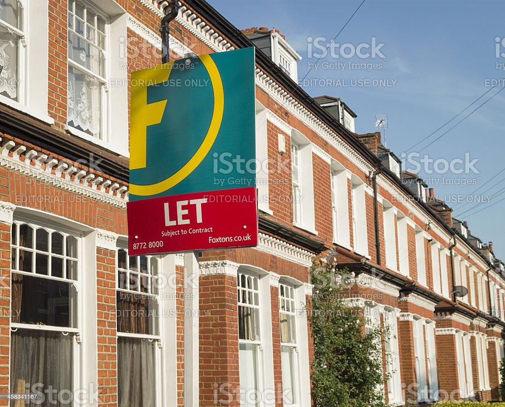 London Rental Property stock photo