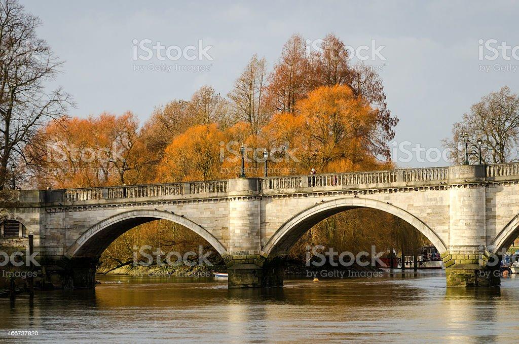 London, Richmond Bridge stock photo