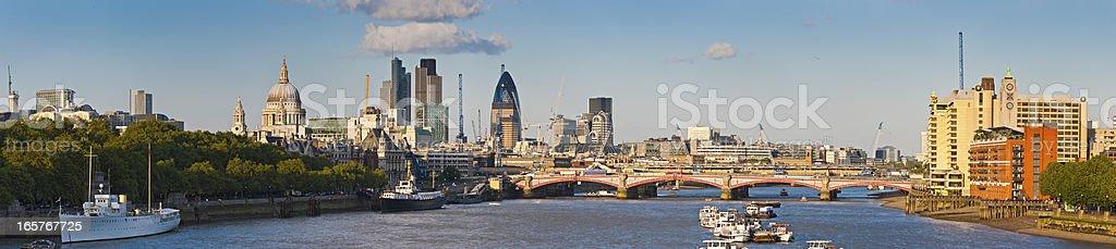 London River Thames landmarks City skyscrapers panorama royalty-free stock photo