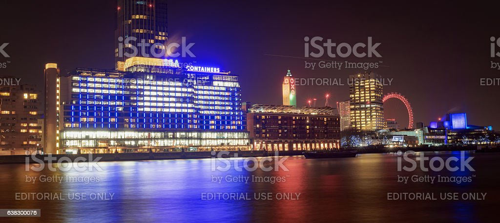 London River Thames skyline stock photo