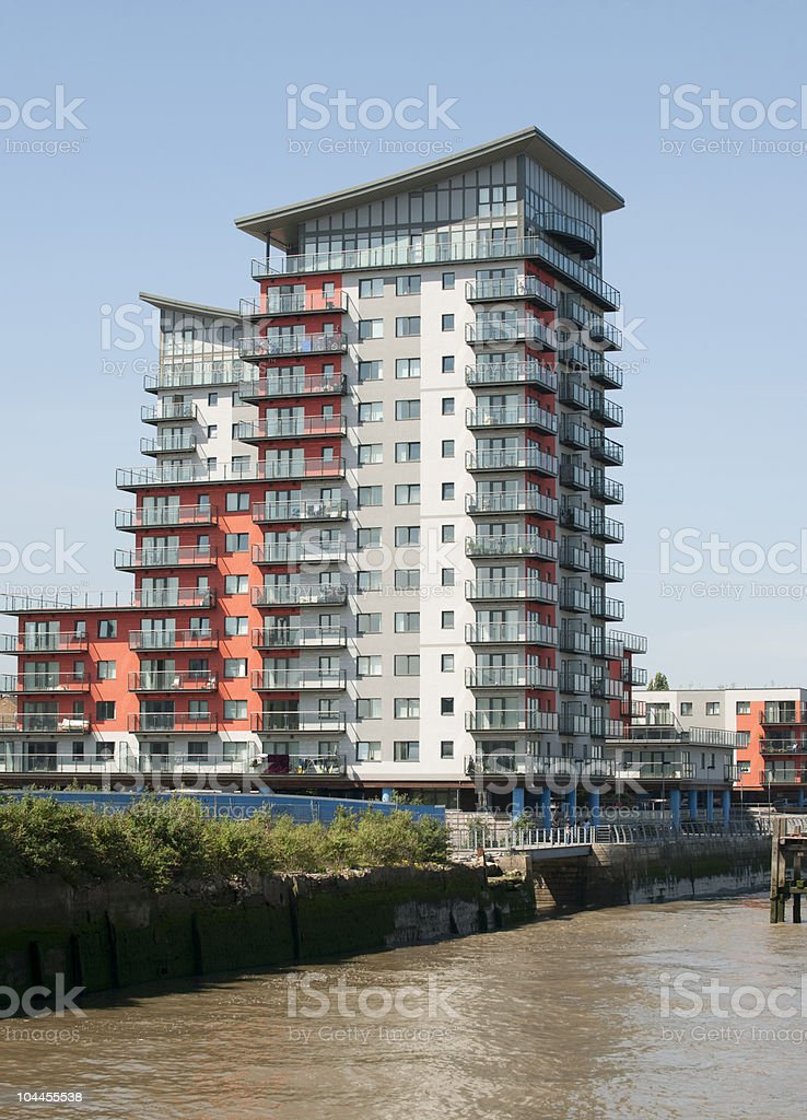 London Riverside Apartments stock photo
