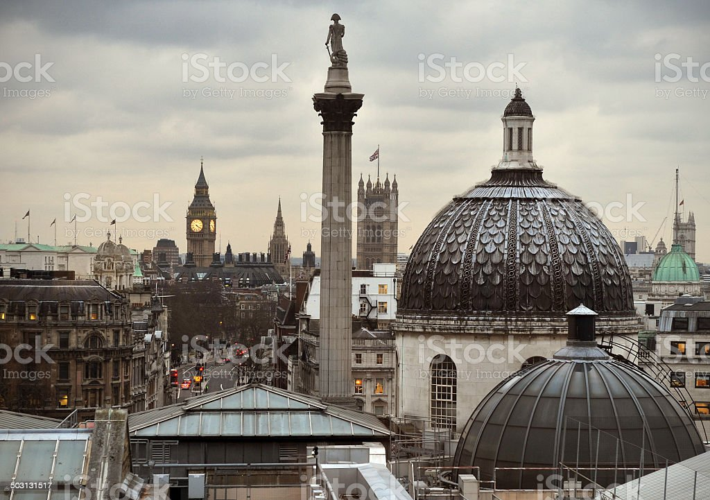 London roofs stock photo