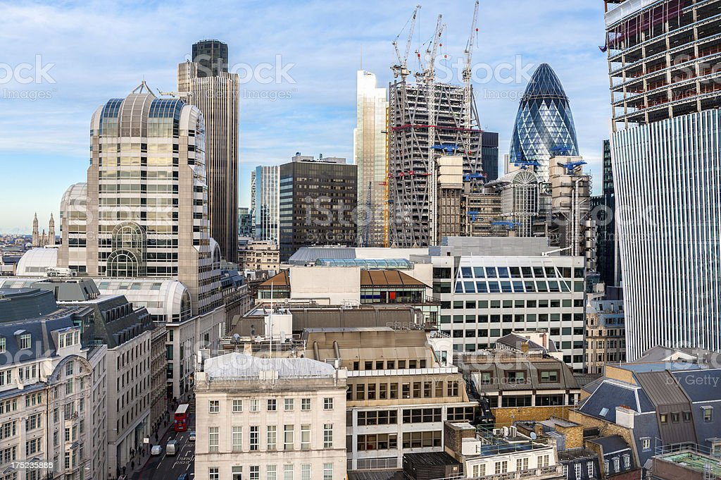London Rooftop Cityscape, England royalty-free stock photo