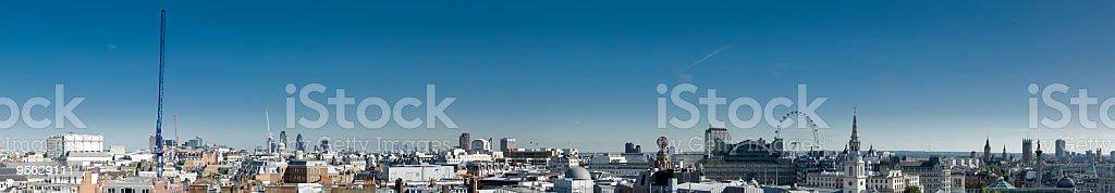 XXXL London rooftop panorama royalty-free stock photo