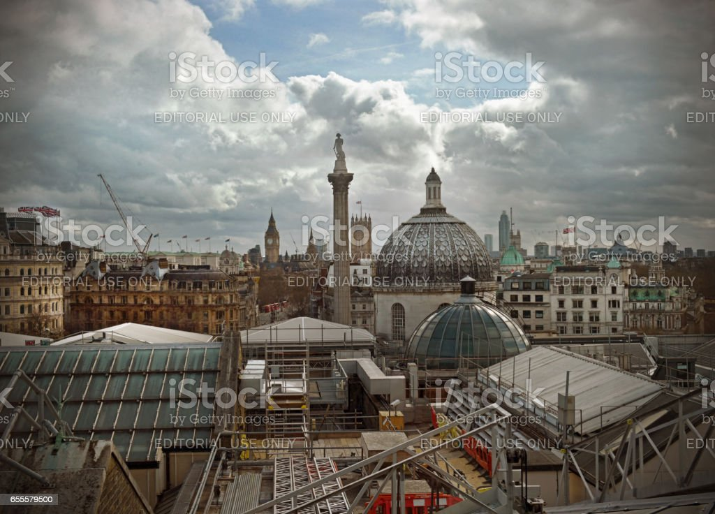 London rooftops and skyline stock photo