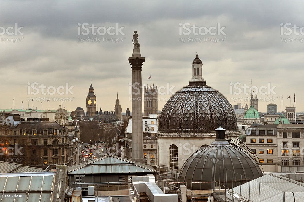 London rooftops stock photo