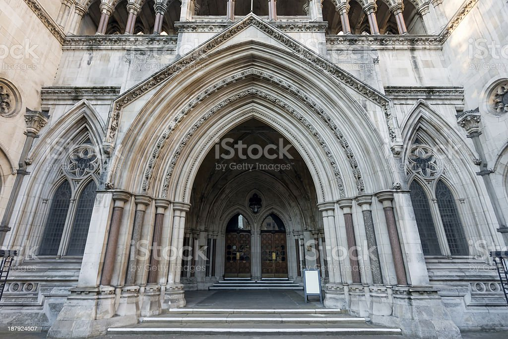 London Royal Courts of Justice stock photo