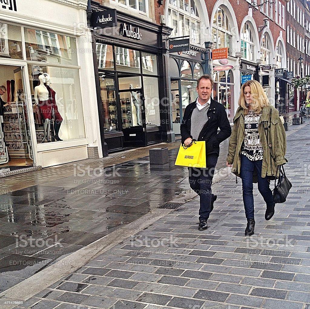 London shoppers, South Molton Street. stock photo
