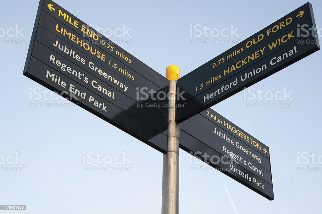 London sign post. royalty-free stock photo