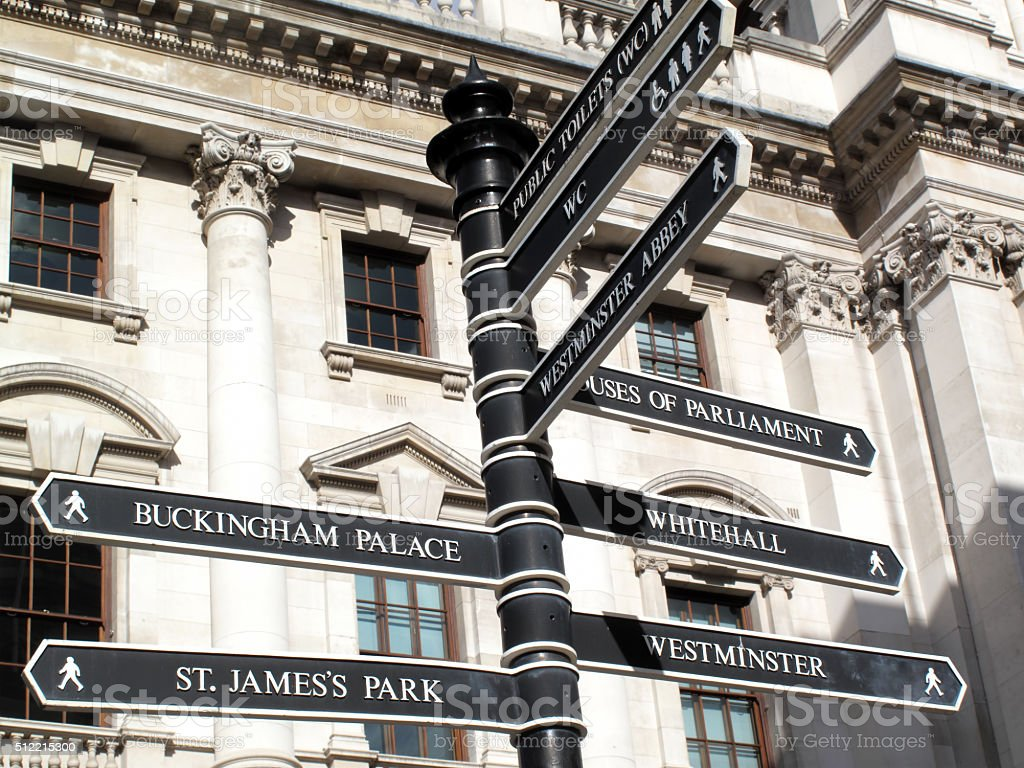 London signpost stock photo