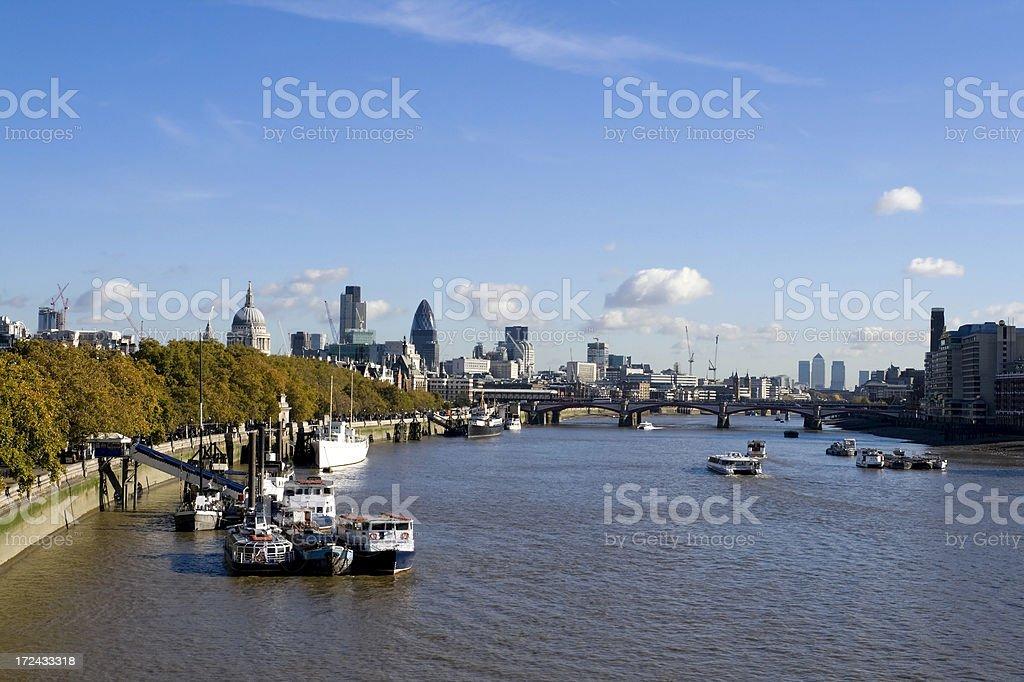 London skyline along the Thames royalty-free stock photo