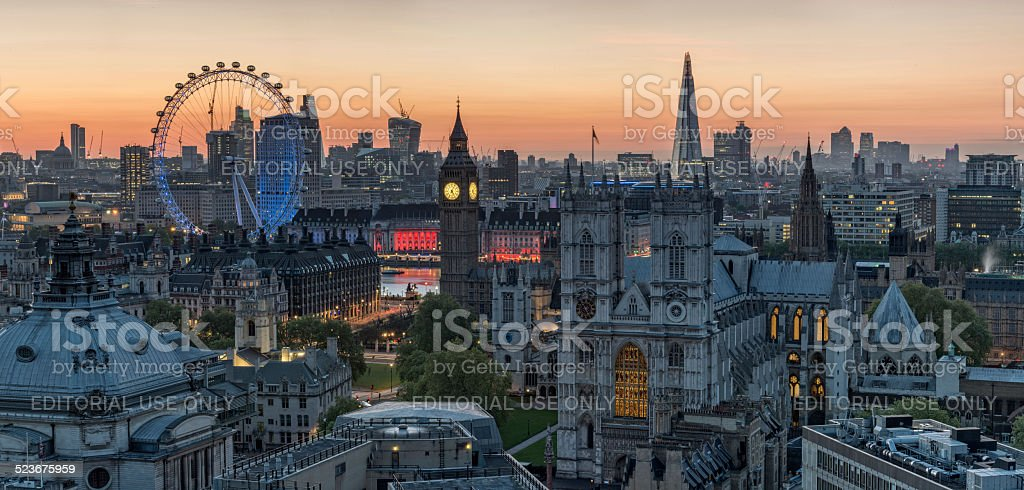 London Skyline at Dawn stock photo