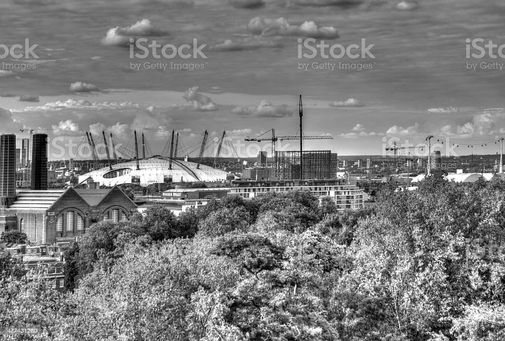 London Skyline from Greenwich Observatory stock photo