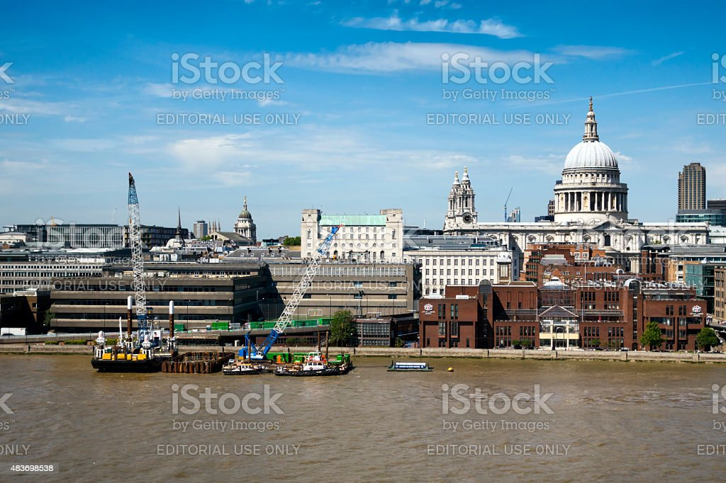 London skyline from the South Bank stock photo