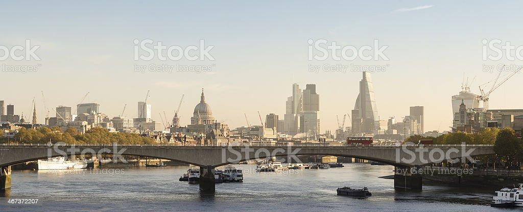 London skyline morning panorama royalty-free stock photo
