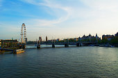 London Skyline of River Thames and Palace of Westminster