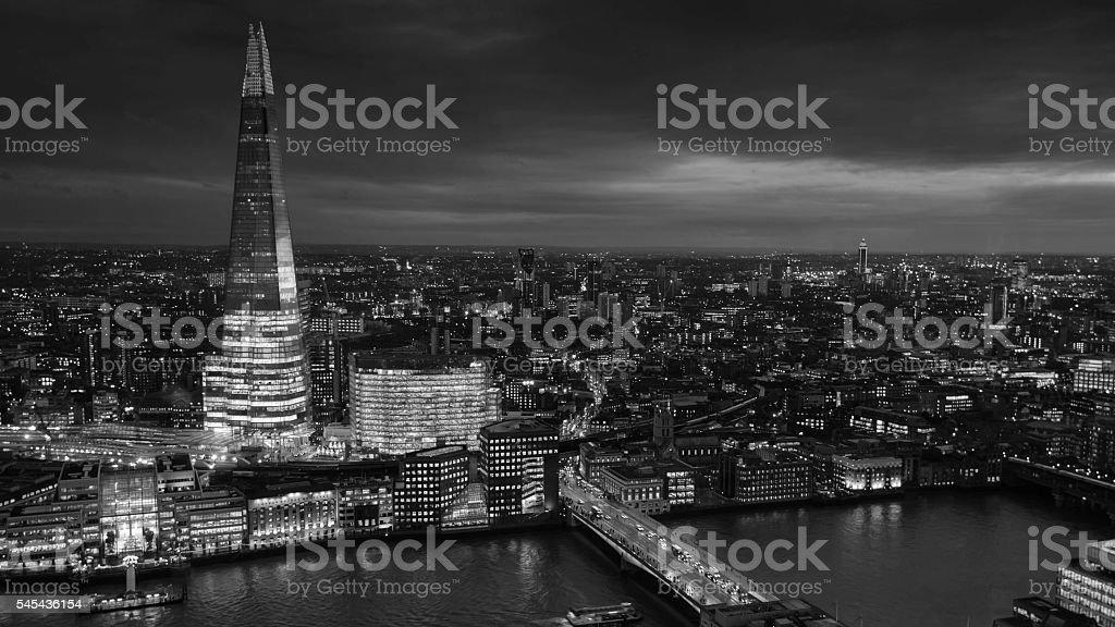 London Skyline of the Shard stock photo