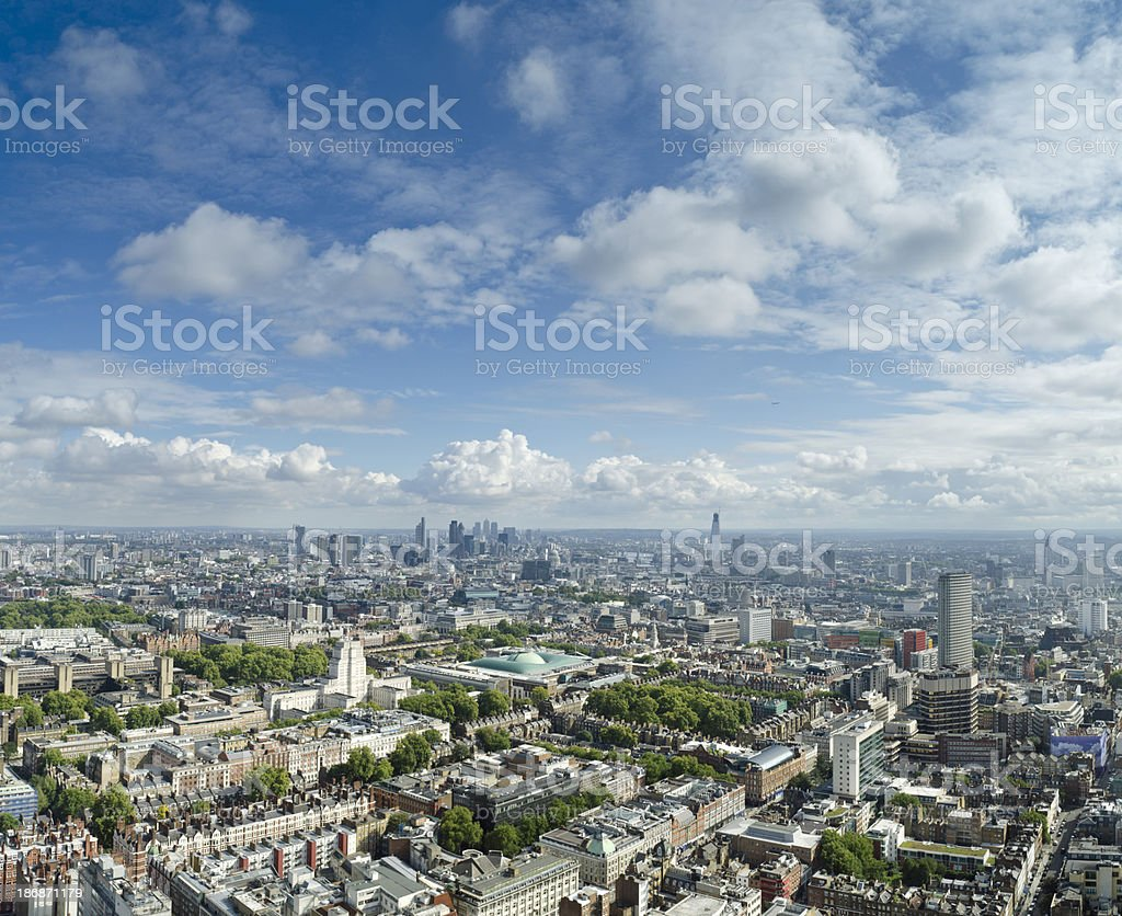London skyline panorama royalty-free stock photo