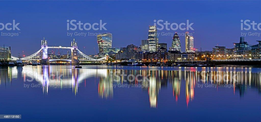 London skyline panoramic view. stock photo