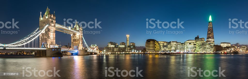 London Skyline taken at Twilight stock photo