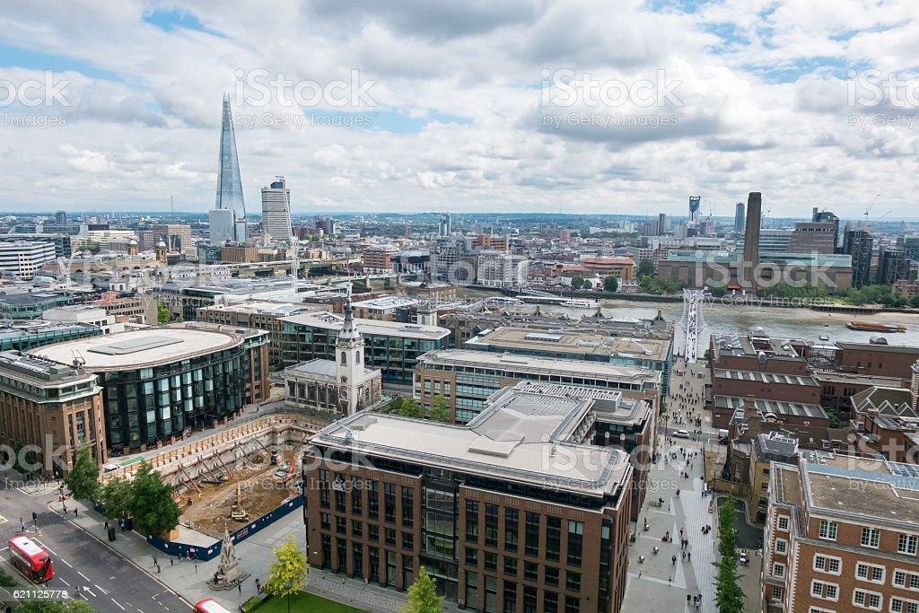 London skyline view stock photo