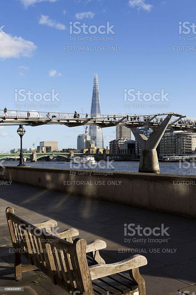 London skyline with The Shard Tower royalty-free stock photo