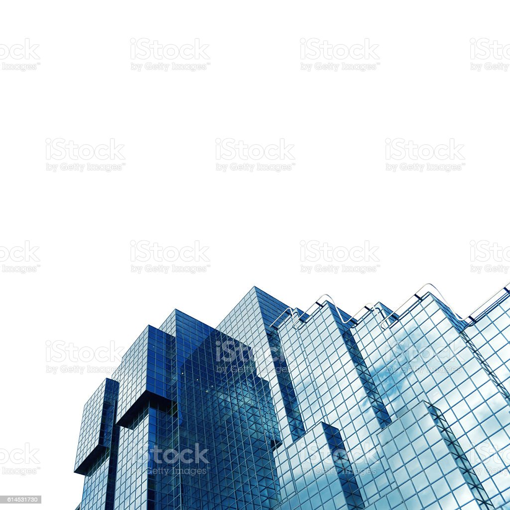 London skyscrapers skyline view isolated over white stock photo