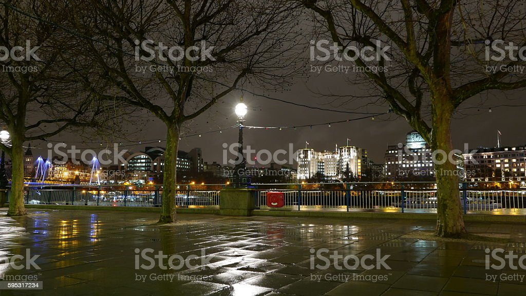 London Southbank at night Lizenzfreies stock-foto