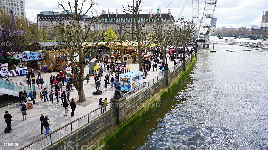 London Southbank Jubilee gardens stock photo
