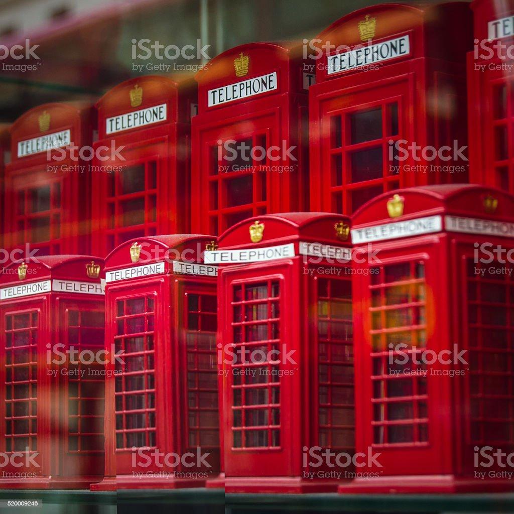 London Souvenir Phoneboxes stock photo