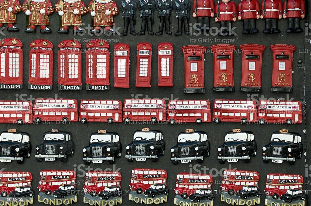 London souvenirs stock photo
