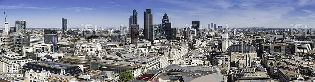 London Square Mile financial district skyscrapers panorama royalty-free stock photo