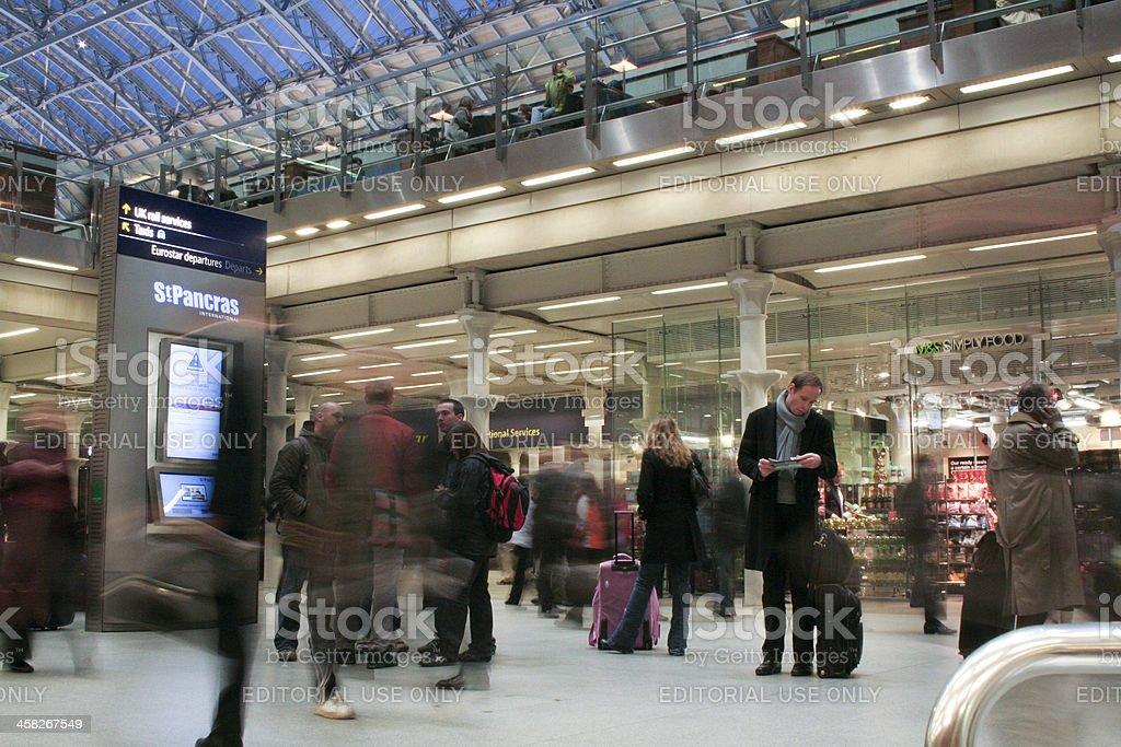 London St Pancras Railway Station stock photo