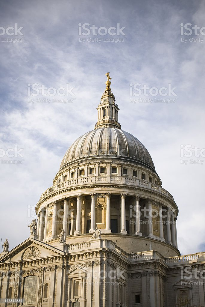 London St. Pauls Cathedral stock photo