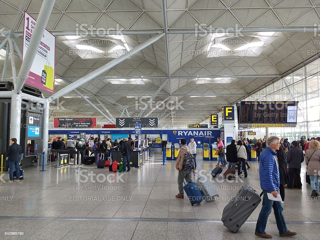 London Stansted Airport stock photo