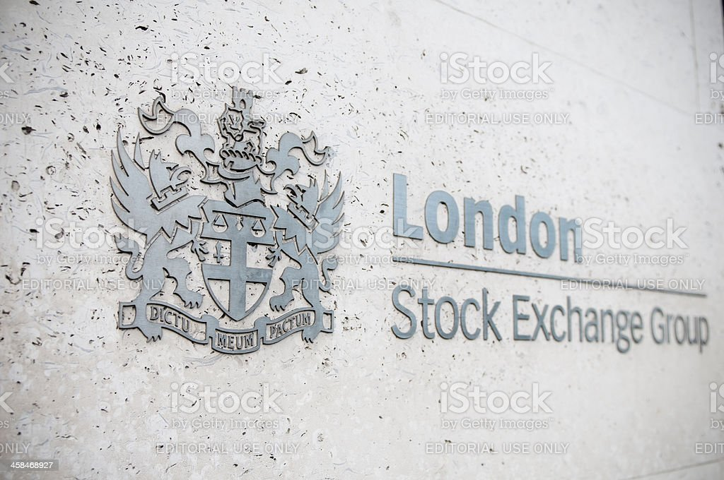 London Stock Exchange Group logo royalty-free stock photo