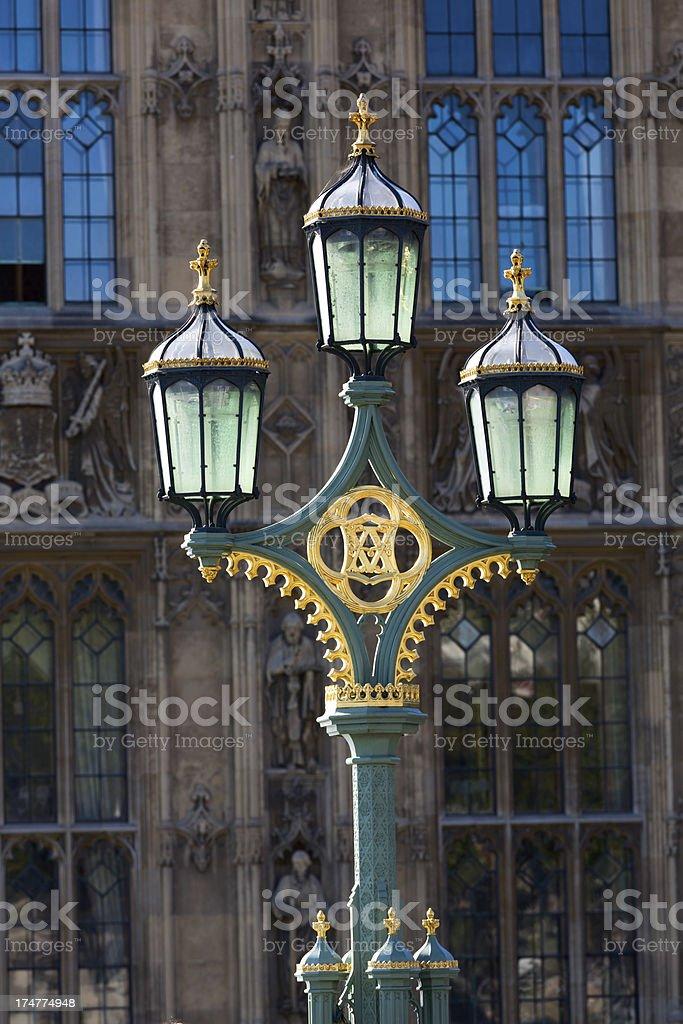London - Street Lamp royalty-free stock photo