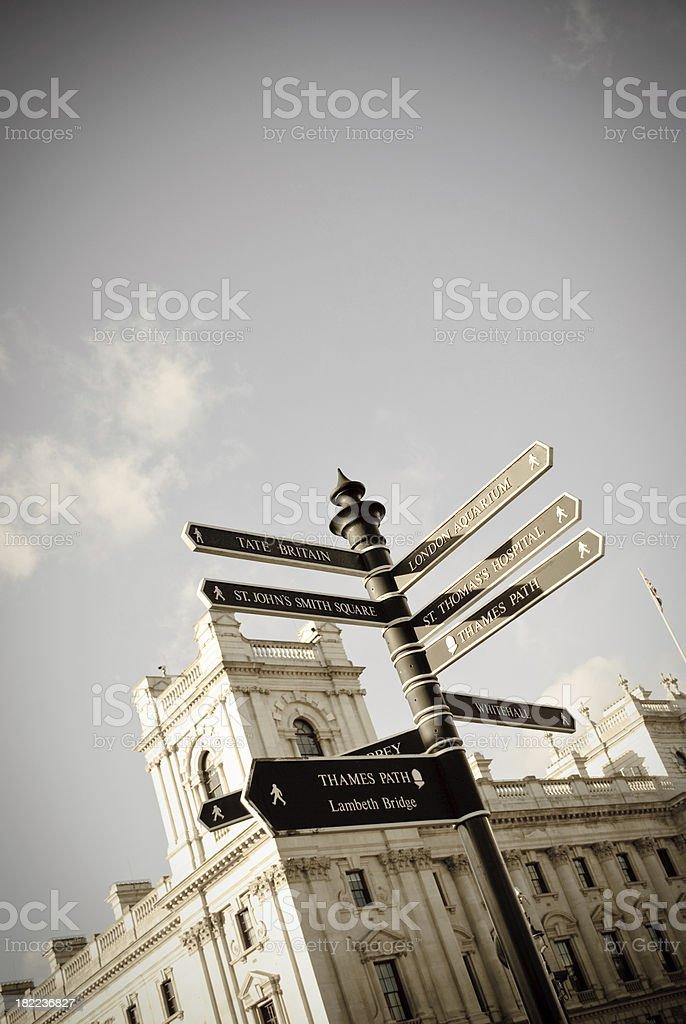 London Street Sign royalty-free stock photo