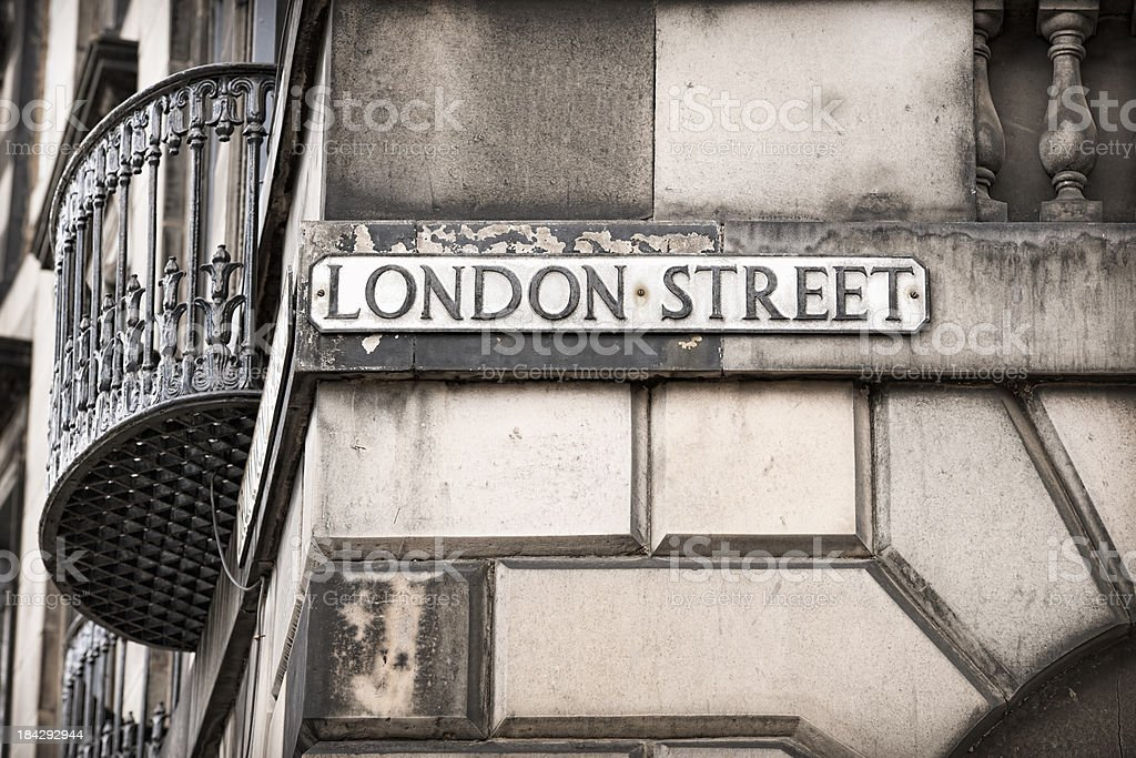 London Street Sign royalty-free stock photo