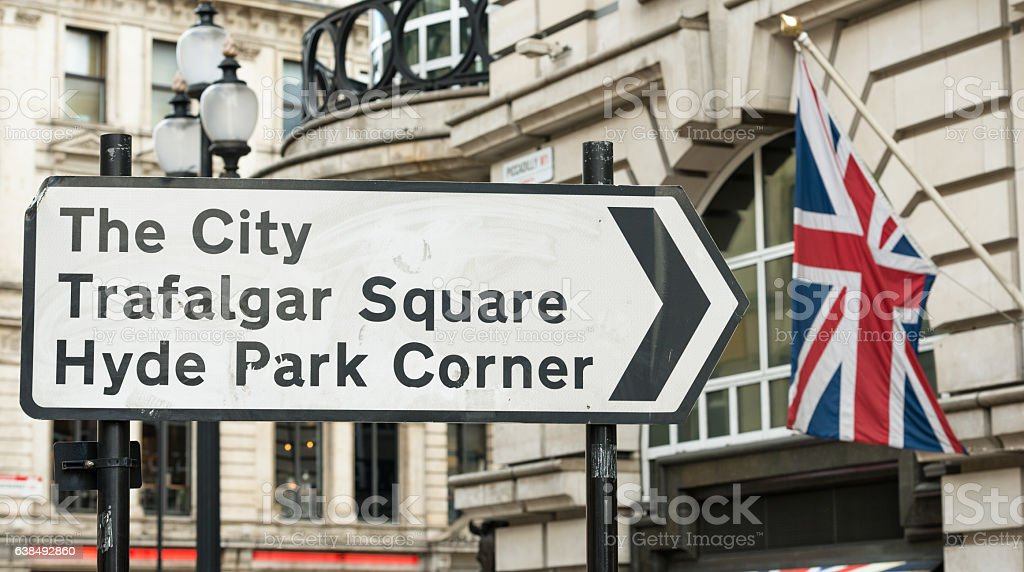 London Street Sign stock photo