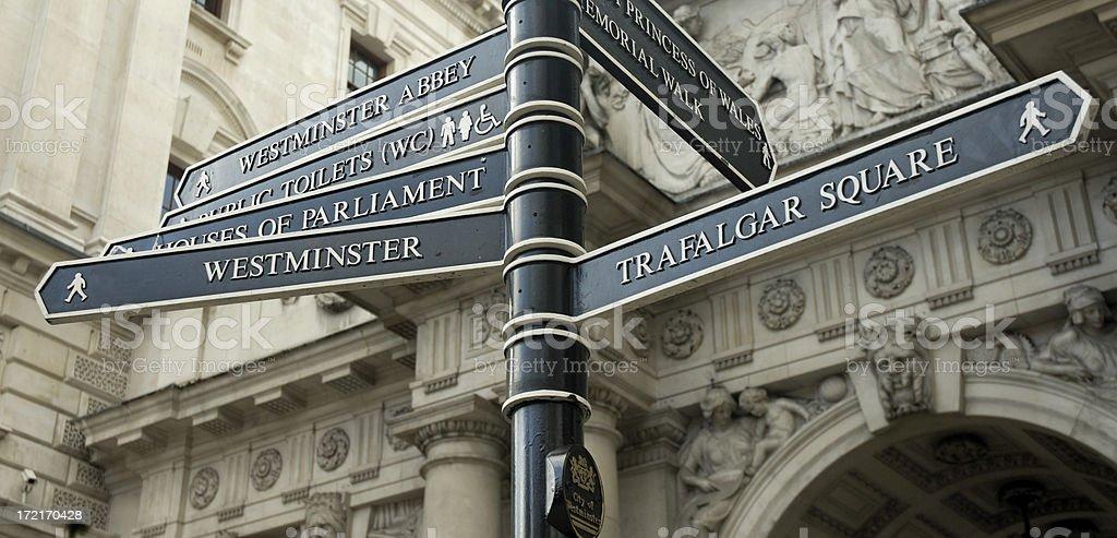 London Street Signs. royalty-free stock photo
