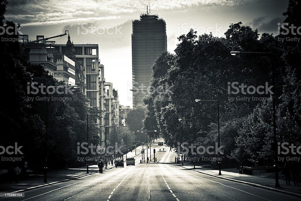 London Streets in Black and White royalty-free stock photo