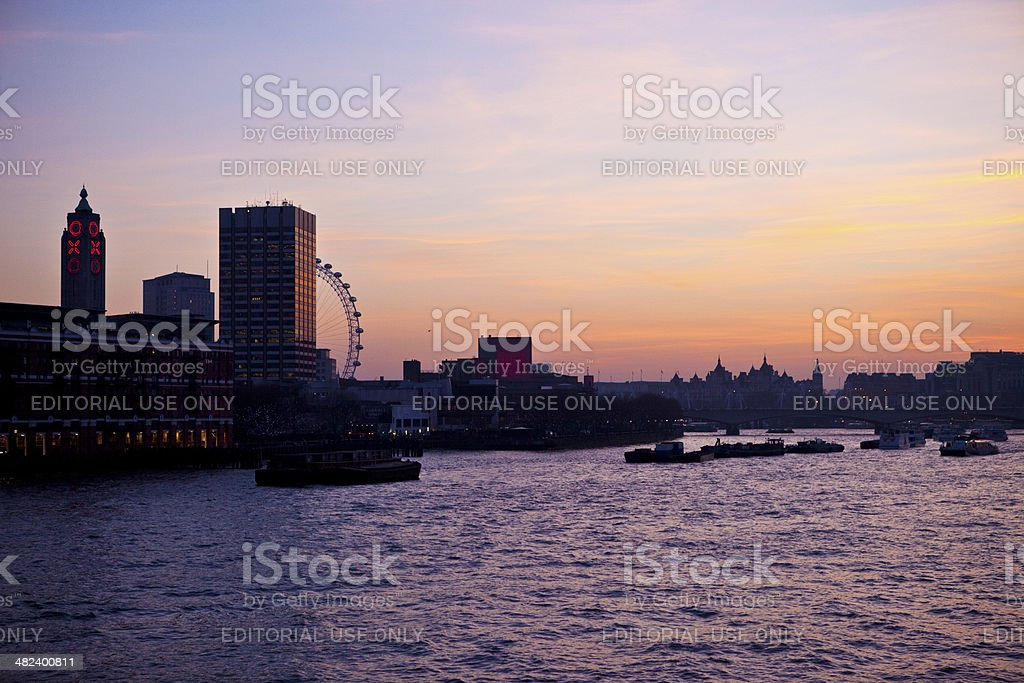 London Sunset stock photo