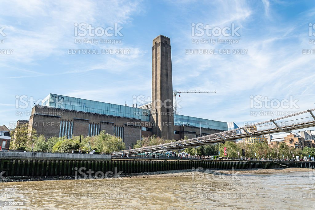 London Tate Modern from the river stock photo